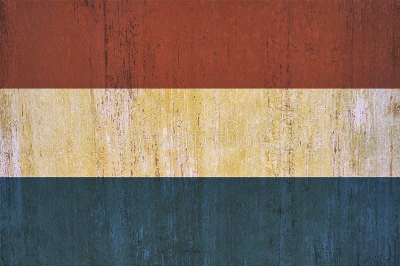 Niederländischer Flaggenhintergrund in der Weinleseart stockbilder