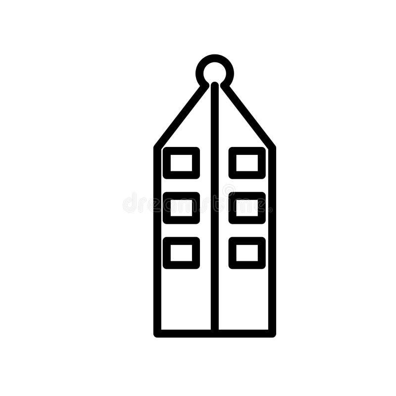 Niederländischer Hausikonenvektor lokalisiert auf weißem Hintergrund, niederländischer Hausmarke, Linie oder linearem Zeichen, El stock abbildung