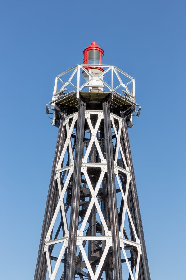 Niederländischer Leuchtturm am Eingang des Hafens Enkhuizen, lizenzfreie stockfotografie