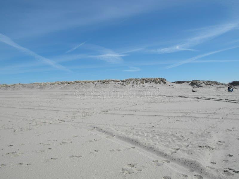 Niederländischer Strand u. Dünen stockfoto