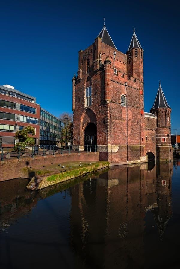 Niederlande - Schloss Entry Gate in Haarlem stockfoto