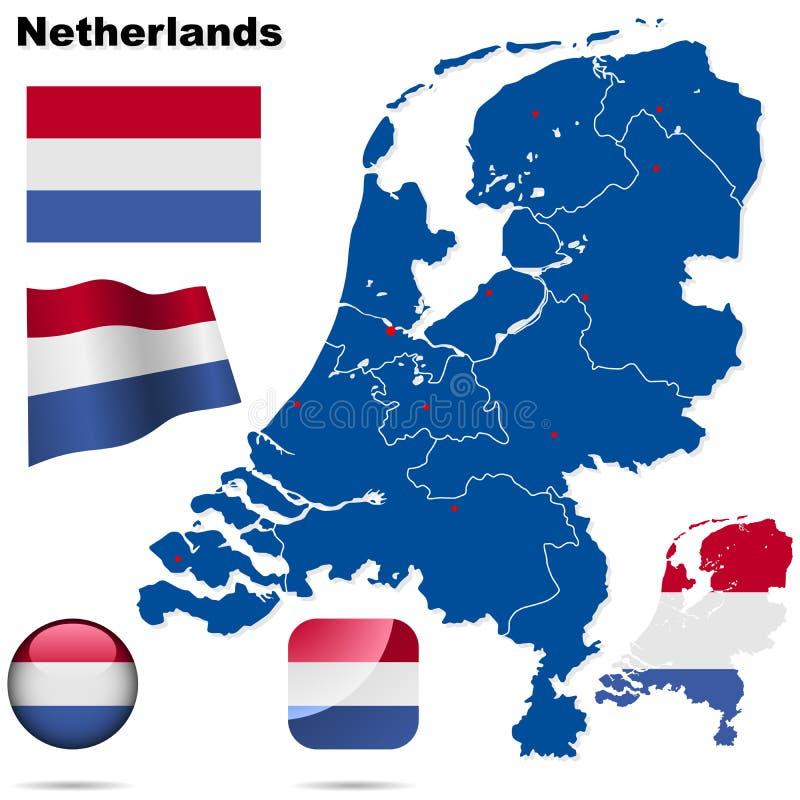 Niederlandeset. lizenzfreie abbildung