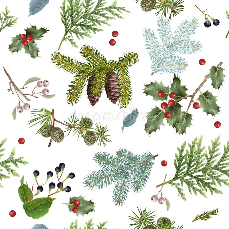 Niederlassungs-Weihnachtsmuster lizenzfreie abbildung