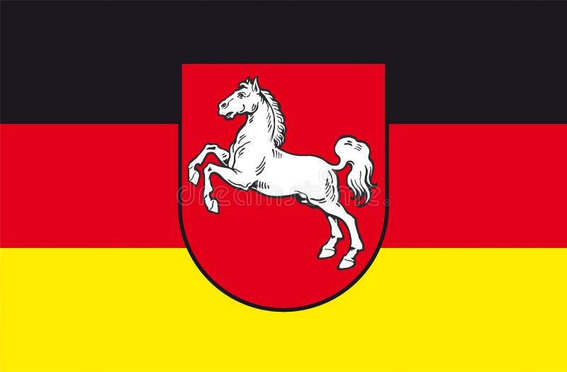 Niedersachsen-Flagge stock abbildung