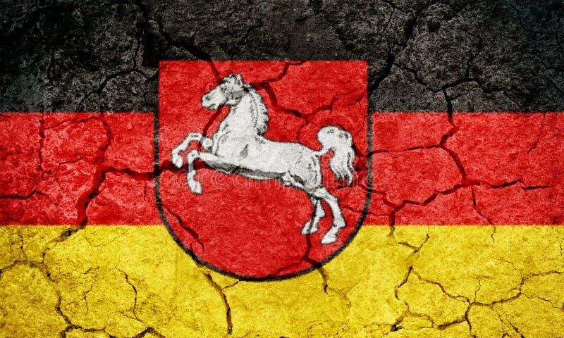 Niedersachsen, Staat von Deutschland, Flagge stock abbildung