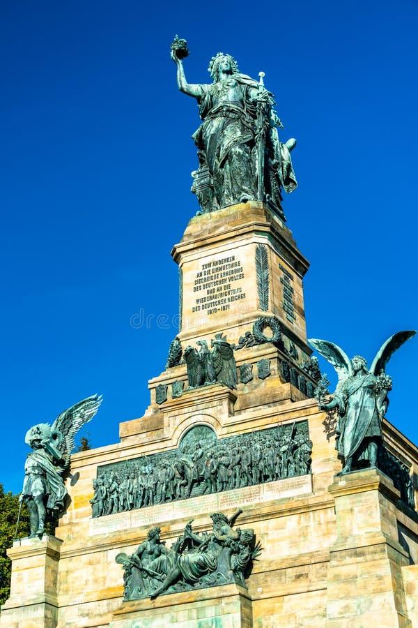 Niederwalddenkmal,纪念碑在1883年修建的纪念德国的统一 库存图片