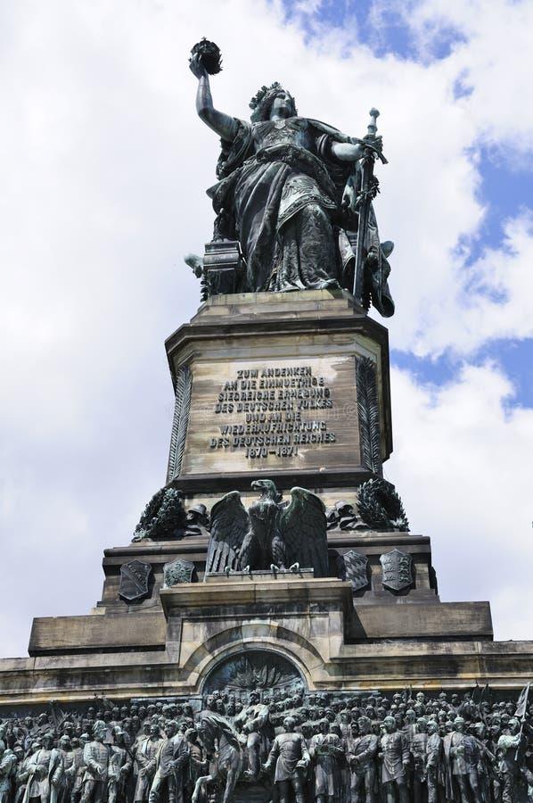Niederwalddenkmal em Ruedesheim, Alemanha fotos de stock royalty free