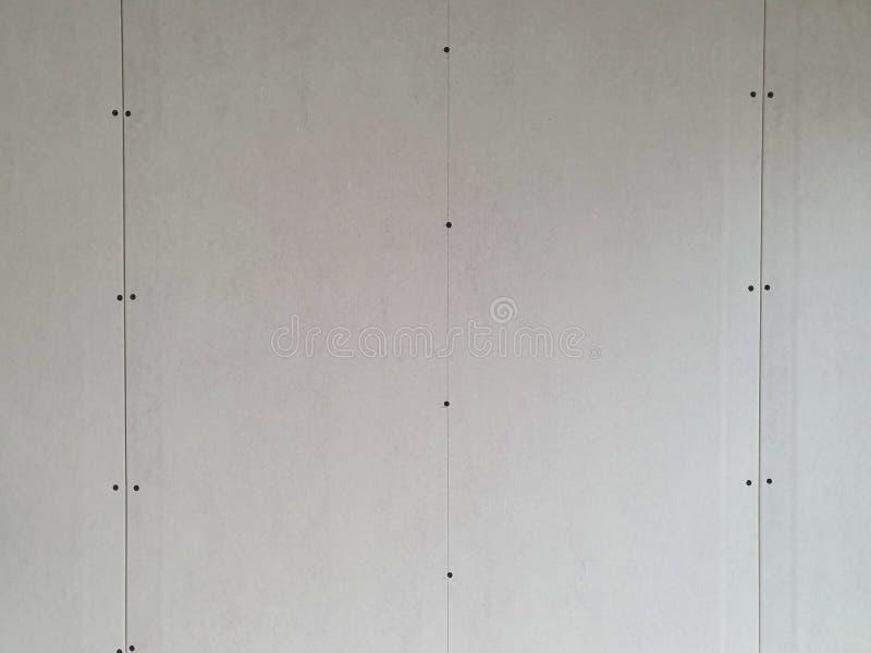 Niedokończona sheetrock ściana przy budową obrazy royalty free