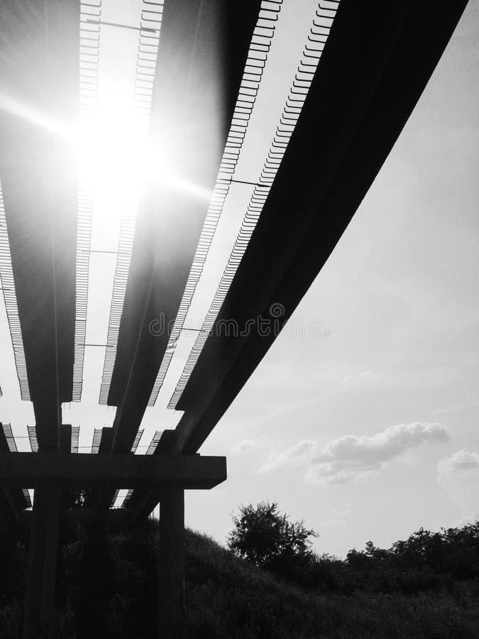 Niedokończony most zdjęcie stock