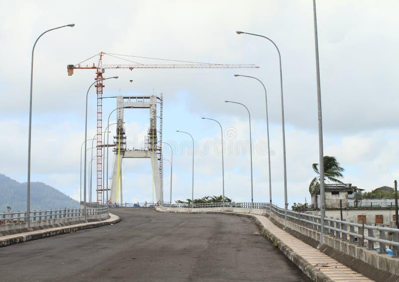 Niedokończony most w Manado obrazy stock