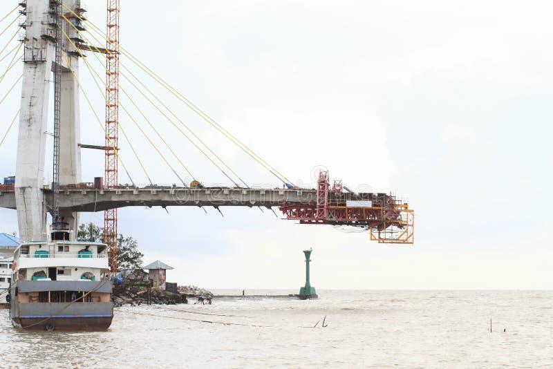 Niedokończony most w Manado zdjęcie royalty free