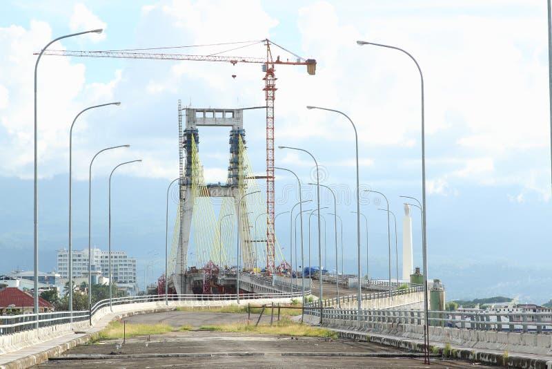 Niedokończony most w Manado zdjęcie stock