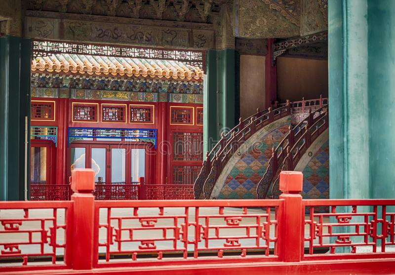 Niedozwolona miasto architektura i ornamenty, Pekin, Chiny obrazy royalty free