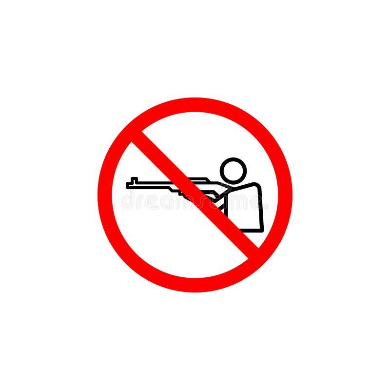 Niedozwolona strzelanina, mężczyzna ikona może używać dla sieci, logo, mobilny app, UI UX ilustracja wektor