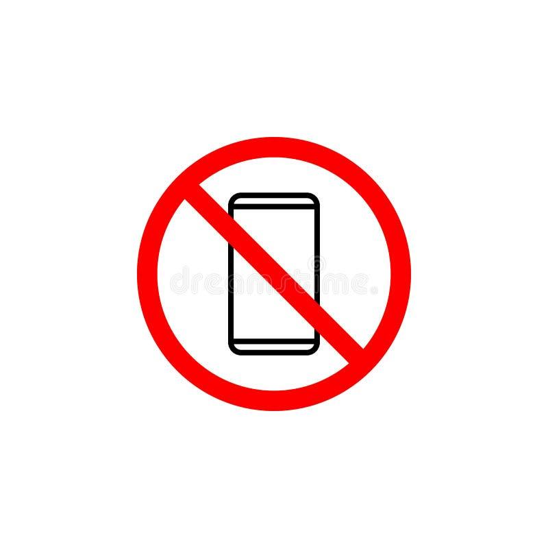 Niedozwolona telefon ikona może używać dla sieci, logo, mobilny app, UI UX ilustracja wektor