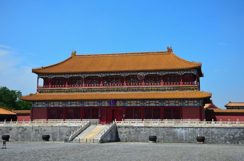Niedozwolony miasto, Beijing zdjęcie stock
