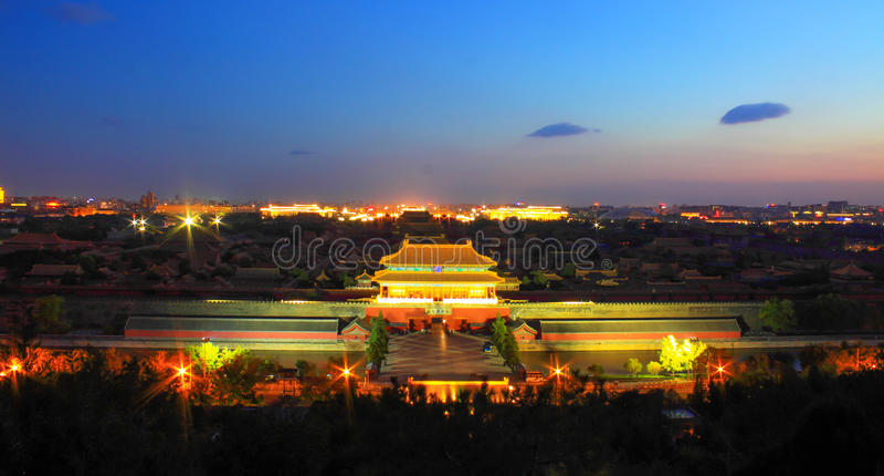 Niedozwolony miasto przy nocą zdjęcia royalty free