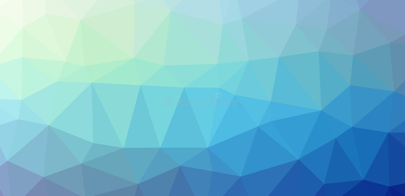 Niedrig--polypolygonal blaue Kälte lizenzfreie stockfotos