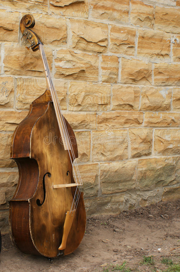 Niedrige Geige stockbild