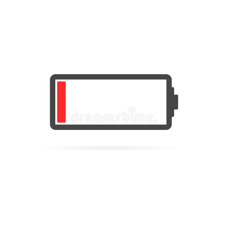 Niedrige Ikone der Batterie lizenzfreie abbildung