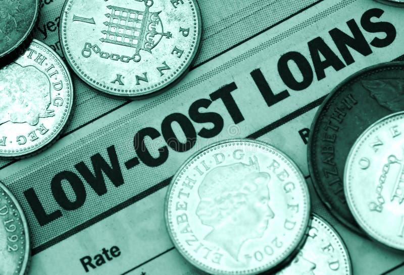 Niedrige Kosten-Darlehen lizenzfreie stockfotografie