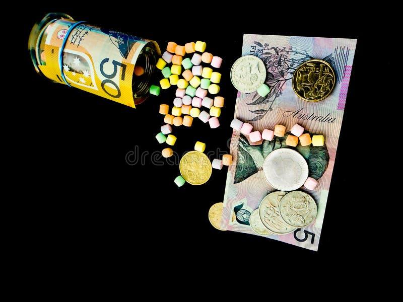 Niedrige Kosten-Gewichtsverlust-Pillen-Heilung alles stockfoto