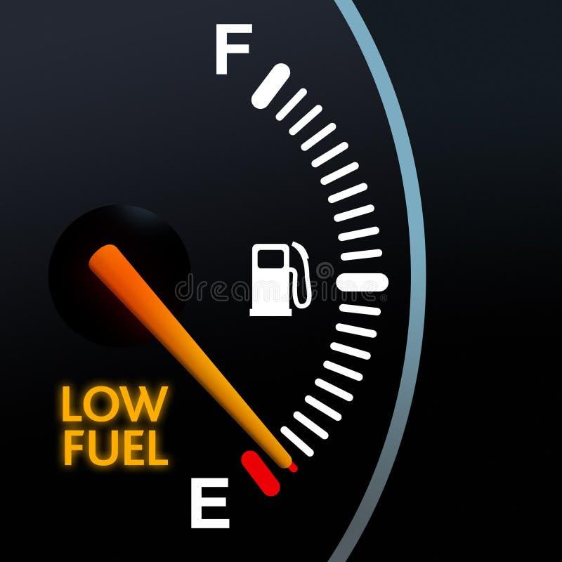 Niedrige Kraftstoffanzeige vektor abbildung