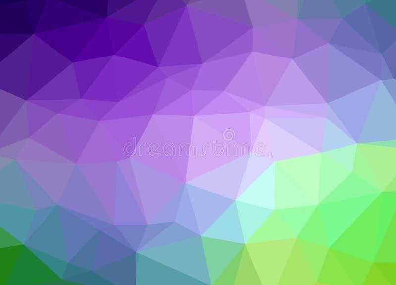Niedrige Polyeffektillustration des abstrakten Vektorhintergrundes lizenzfreie abbildung