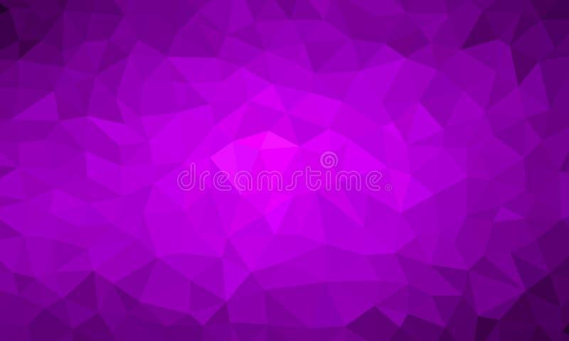 Niedrige Polyhintergrundpurpurfarbe vektor abbildung