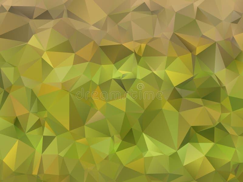 niedriger Polygelbgrünhintergrund lizenzfreie stockfotografie