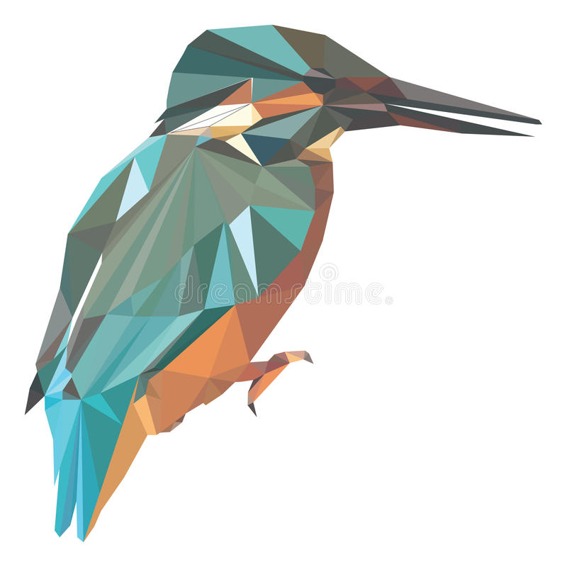 Niedriger Polyvogel lizenzfreie abbildung