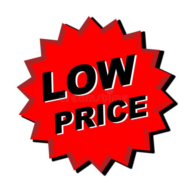 Niedriger Preis-Zeichen lizenzfreie abbildung