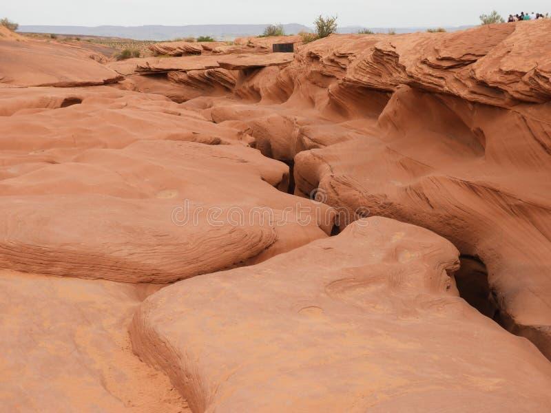 Niedrigerer Antilopen-Schluchtausweg - Ausgang - Arizona-Navajo USA stockbilder