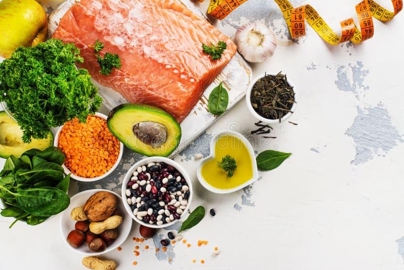Niedriges Cholesterinlebensmittel lizenzfreies stockfoto