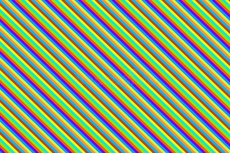 Niedriges festliches, die gelben azurblauen Streifen, Muster einwickelnd hell kontrastierend lizenzfreie abbildung