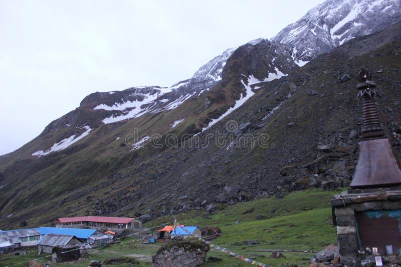 Niedriges Lager Annapurna lizenzfreie stockfotografie