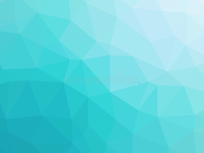 Niedriges Polygon der abstrakten Türkisblau-Steigung formte Hintergrund lizenzfreie abbildung
