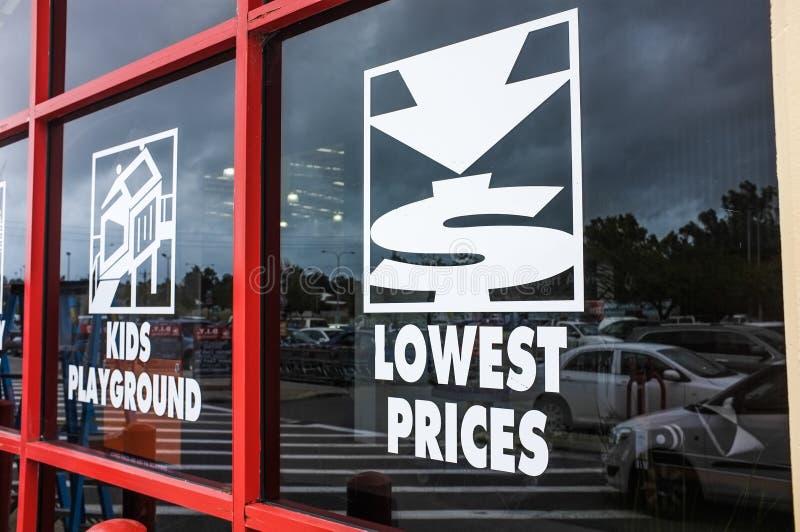 Niedrigster Preis lizenzfreie stockbilder