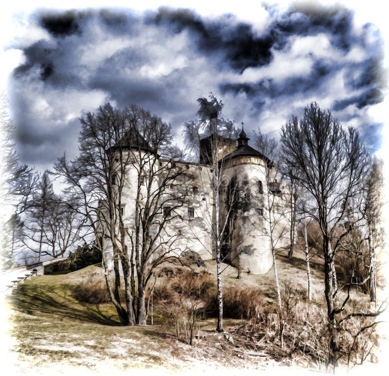 Niedzica Castle στη νότια Πολωνία στοκ φωτογραφία με δικαίωμα ελεύθερης χρήσης