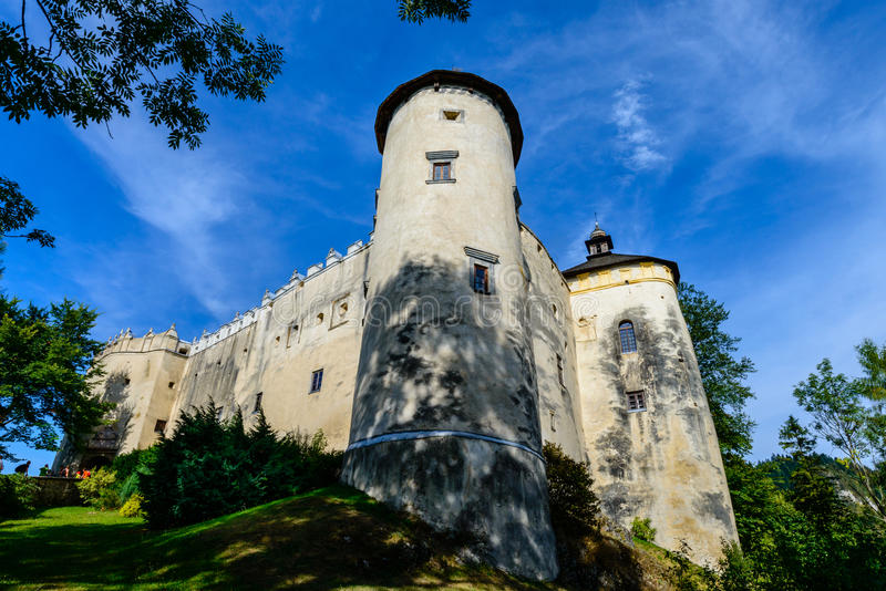 Niedzica Castle. Dunajec Castle - in the Pieniny mountains on a bright summer day / Poland royalty free stock photos