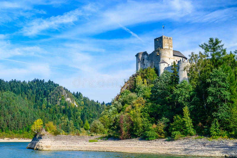 Niedzica Castle. Dunajec Castle - in the Pieniny mountains on a bright summer day / Poland royalty free stock photography