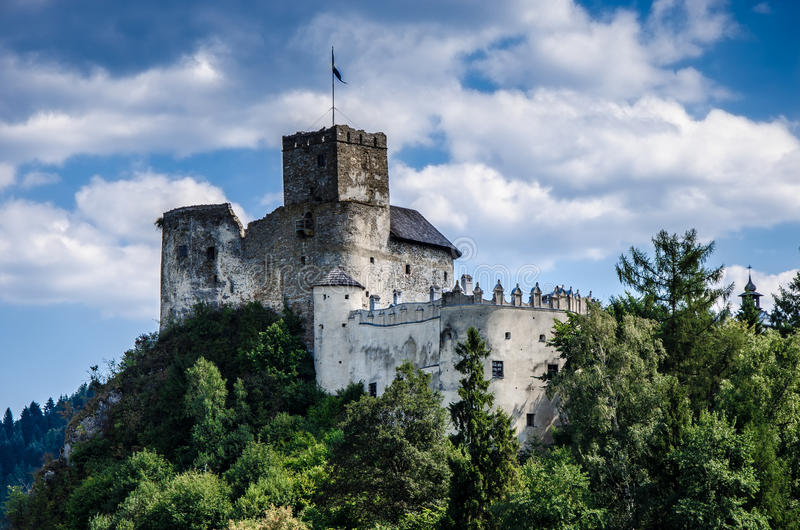 Niedzica castle. In Poland, also known as Dunajec castle stock photography