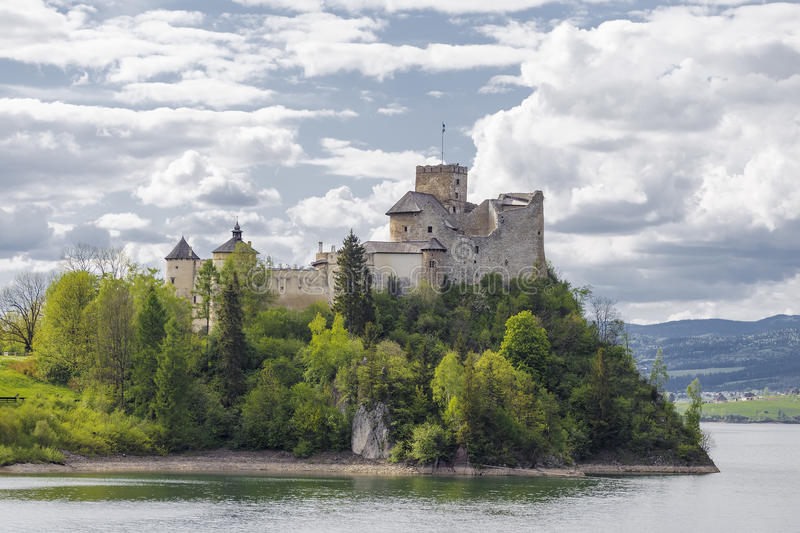 Niedzica Castle. On the River Dunajec. Poland royalty free stock images