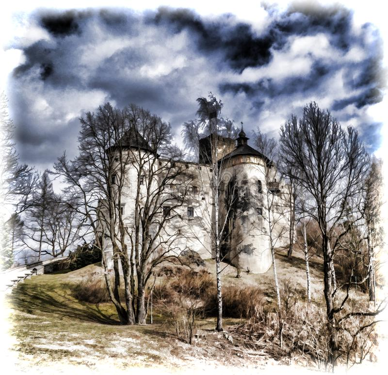 Niedzica kasztel w Południowym Polska fotografia royalty free