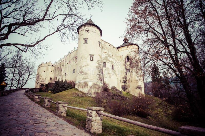 Niedzica-Schloss am Czorsztyn See in Polen lizenzfreies stockbild