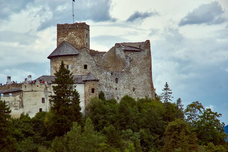 NIedzice castle. 8 september 2019. View at Niedzica castle in Southern Poland royalty free stock image