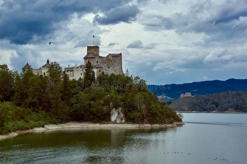 NIedzice castle. 8 september 2019. View at Niedzica castle in Southern Poland royalty free stock images
