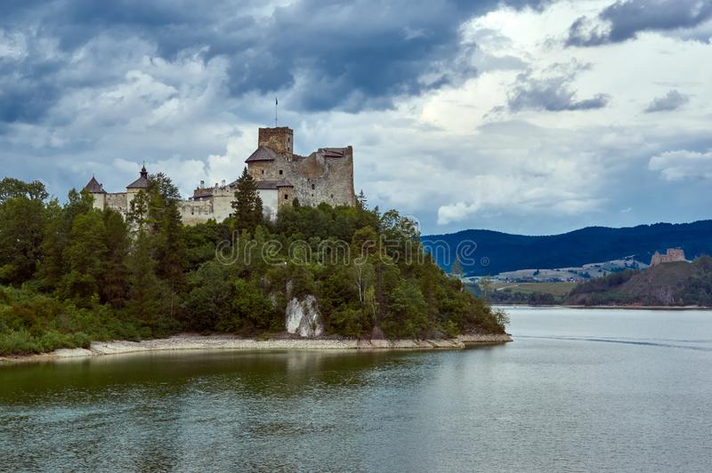NIedzice castle. 8 september 2019. View at Niedzica castle in Southern Poland stock image