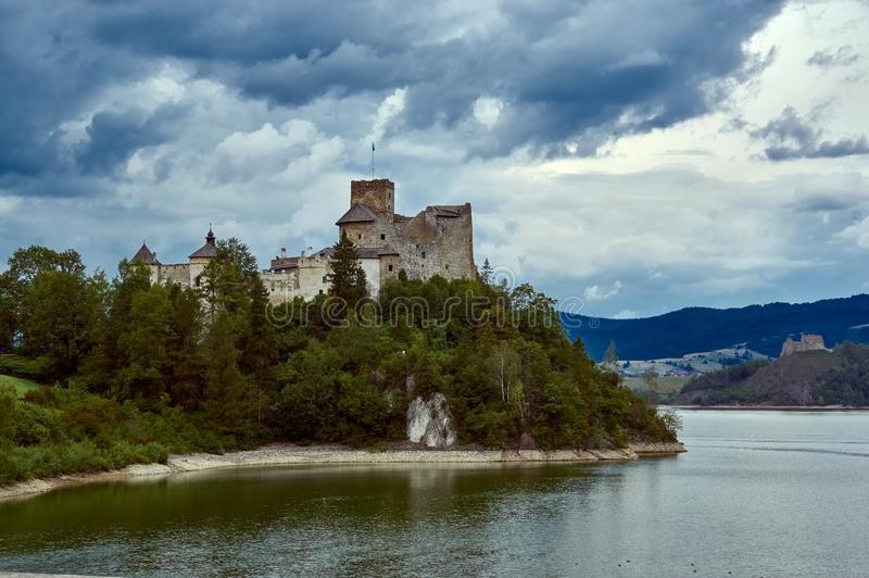 NIedzice castle. 8 september 2019. View at Niedzica castle in Southern Poland royalty free stock photos