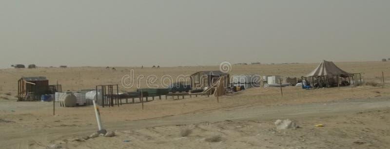 Nieformalny budynek mieszkalny W saudyjczyku - arabska pustynia zdjęcie royalty free